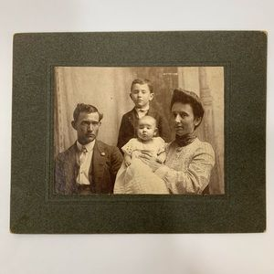 Other - Antique Victorian Family Cabinet Card Photograph